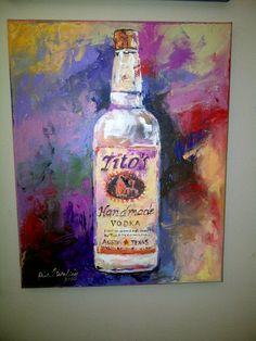 Tito's Vodka Painting