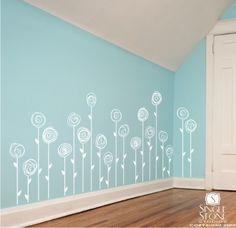 Flowers Wall Decals Doodle Flower Garden  by singlestonestudios, $62.00