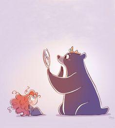 Merida & Mama Bear - Brave     Elinor, queen, princess, Disney, Pixar
