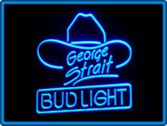 Bud Light George Strait Beer Bar Pub Restaurant Neon Light Sign