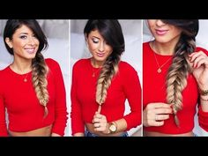Chunky Reverse Fishtail Braid - YES I tried it and liked it, though mine didn't come out as CHUNKY as hers