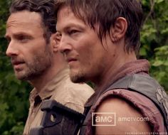 Andrew Lincoln & Norman Reedus - The Walking Dead S3, behind the scenes