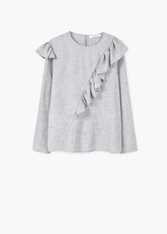 Decorative ruffle blouse | MANGO