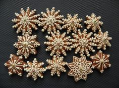 vánoce- a zase vločky, gingerbread snowflakes, just beautiful