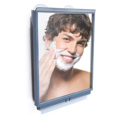 Fogless Shower Mirror with Squeegee by ToiletTree Products. Guaranteed to NEVER fog.