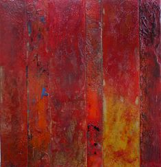 I like the bit of blue--Pamela Caughey Encaustic Paintings 2014 - PAMELA CAUGHEY