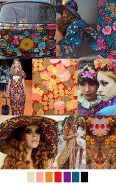 TatiTati Style ☆    60's style, 60's fashion, design inspiration, color palette