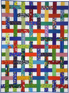 Lattice Quilt ~ Link to free pattern - https://www.msu.edu/~donald20/Quilts/Lattice%20quilt.pdf
