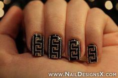Greek Key nails