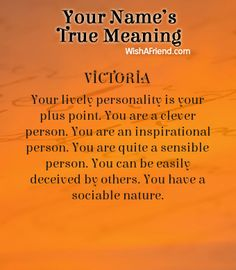 Name true meaning of Victoria