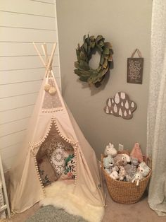 Nursery Ideas 45 Baby Girl Room Themes, Baby Gurl Nursery, Baby Nursery Ideas For Girl, Baby Girl Nurseries, Baby Girl Stuff, Toddler Teepee, Baby Teepee, Toddler And Baby Room, Girls Teepee