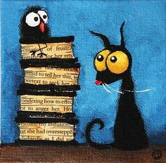 """Tower of books"" by StressieCat 