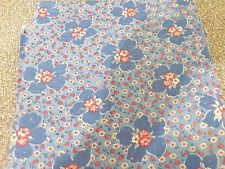 Vtg Feedsack Quilt Fabric 40s Blue/Pink/Red/White FLORAL Flour Sack 38x42