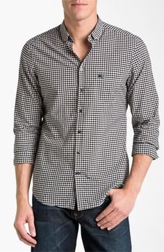Burberry Brit Trim Fit Sport Shirt | Nordstrom