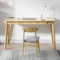 Gilman Desk Rustic Writing Desk, Oak Beds, Big Desk, Solid Wood Desk, Wood Drawers, Round Corner, Storage, House, Furniture
