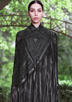 givenchy leather fringe winter coat need it right now!!!