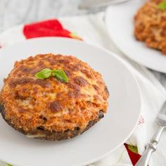 Pizza Quinoa Stuffed Portabella Mushrooms-  I think this could be adapted w/o too much fuss!