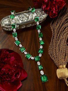 emerald & diamond necklace from David Morris