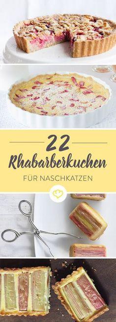 Oh, du süße Rhabarberzeit! Koste die Saison in vollen Zügen aus und back dir leckere Rhabarberkuchen. Was du brauchst? Nur diese 22 raffinierten Ideen.