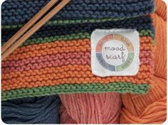 Mood scarf. Month long project where you crochet what mood you are in that day. Cute idea!