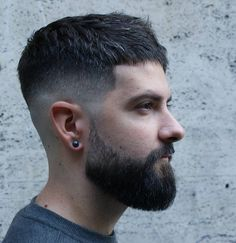 Low Fade Short Hairstyle + Beard