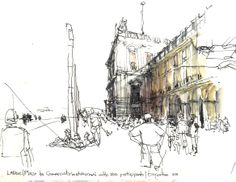 4th International Urban Sketching Symposium: Dynamic Ink: Using Non-waterproof Ink Creatively (Workshop F)