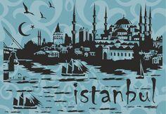 İstanbul Silüet – dekorZEN™ Tasarım Ürünler
