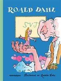 """Titel: SVJ - Författare: Roald Dahl     """"Hårresande, bloddrypande - och fantastiskt roligt!     Föräldralösa Sophie kidnappas av en jätte och hon är skräckslagen för att han ska äta upp henne. Men det är en stor vänlig jätte som tillfångatagit henne, och tillsammans gör Sophie och jätten upp en smart plan hur de ska få de andra jättarna - de som är hemska på riktigt - att sluta äta sina barn.      1998 röstades boken fram till århundradets bästa barnbok i Storbritannien. """""""