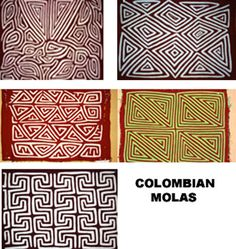 Mola Appliqué work Hand Made by the Kuna Indians -Colombia         Choice of x 6 |  | eBay!
