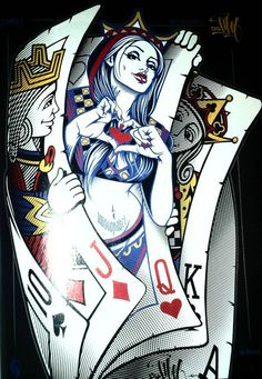 Pin by kay rae on it's a gamble покер тату, карты тату, татуировки. Cool Playing Cards, Cool Cards, Playing Card Tattoos, Art Carte, Paar Tattoos, Chicano Art, Heart Art, Fantasy Art, Body Art
