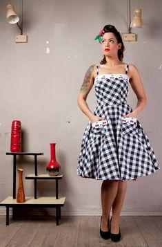 Mid century modern, retro dress, vintage inspired pin up dress
