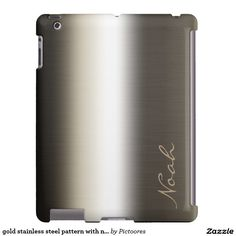 gold stainless steel pattern with name - #personalized #ipad #case
