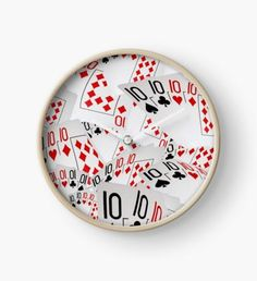 Poker, Tens, You To Could Be A Number Ten Clock