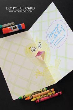 DIY Pop Up Card Kids Craft - seven thirty three