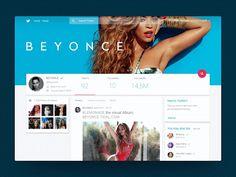 Twitter in Material design