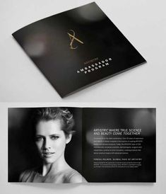 printed brochure design -booklet style in black