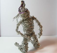 Wirework Sculpture Stainless Steel Figurine by Wireandcolour