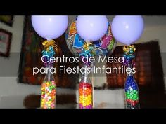 Centro de Mesa para Fiestas Infantiles - Botellas Recicladas - YouTube