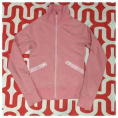 Lululemon Roadster Jacket - vintage Dusty pink. Good preloved condition - note that the edges of the cuffs are dingy. Two front zip pockets. High collar. Cotton/Lycra blend. No trades. No PayPal. lululemon athletica Jackets & Coats
