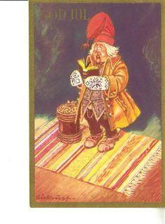Kjell Aukrust Gnomes, Postcards, Christmas, Painting, Vintage, Art, Xmas, Art Background, Painting Art
