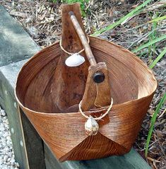 """bangalow is aboriginal for """"water carrying basket"""" from palm"""