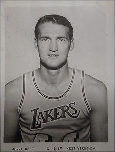 Jerry West 5x6 Original Vintage Rookie Year photo/Card Los Angeles Lakers
