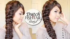 This hair tutorial will show you how to do a dutch fishtail braid hairstyle. If you already know how to do a reverse fishtail braid, then this will be a bree...