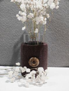"""Vasen - Glasvase """"Upcyc"""" - ein Designerstück von Nadeltasse bei DaWanda Designer, Etsy, Home Decor, Glass Vase, Decoration Home, Room Decor, Home Interior Design, Home Decoration, Interior Design"""