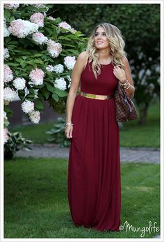 bcc4db10ddd I love the burgundy color. Just a different belt sash thingy. Krystal Blaum  · Bridesmaids dresses and accessories