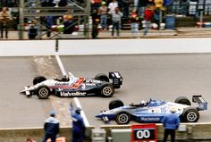 Another look at the Unser/Goodyear finish in 1992. Wow ...