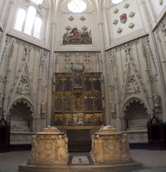 Toledo, Spain - Cathedral - Chapel of Santiago.  In this chapel are the tombs of the Lord HIgh Constable of Castille, Don Alvar de Luna, and his wife dona Juana de Pimentel.