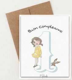 Greeting card first birthday