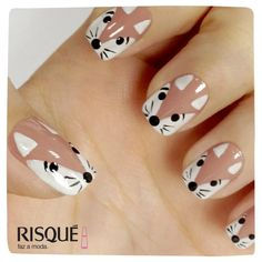 Cute nails art Source by Feeziepop Farm Animal Nails, Animal Nail Art, Simple Nail Art Designs, Nail Designs, Nail Swag, Cute Nails, Pretty Nails, Nail Art For Kids, Crazy Nail Art