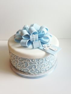 Baptism cake.. This cake is so lovely you could pull off the cross and any reference to the baptism and use it as a wonderful birthday cake or any other special party